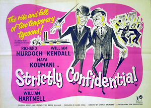 STRICTLY-CONFIDENTIAL-1959-Richard-Murdoch-William-Kendall-UK-QUAD-POSTER
