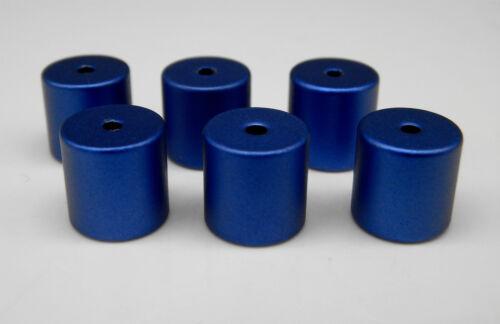 Aluminium Walzen Röhren Alu eloxiert Perlen 10mm x 10mm Zylinder Farbauswahl