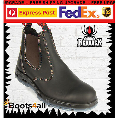 Redback Work Boots Easy Escape Bobcat Oil Kip Brown Leather Non Steel Toe UBOK