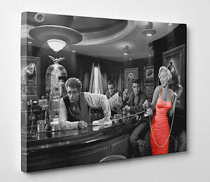 X Large Marilyn Monroe Elvis Presley James Dean Canvas Print Wall