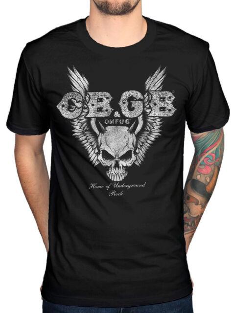 Offiziell CBGB Skull Wings T-Shirt Underground Rock Ramones Vans omguf New York