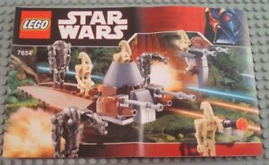 New-LEGO-Instruction-Manual-Only-from-set-7654-Droids-Battle-Pack
