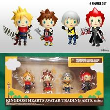 Kingdom Hearts Mini Avatar Trading Arts Figures (Set of 4) Cloud Axel Sora Riku