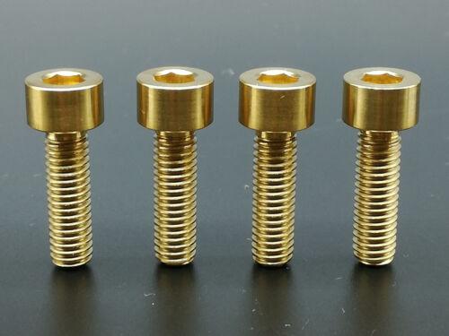 4 Pcs Ti Titanium MTB Gold Socket Head Bolts Disc Brake Adapter Mount M6 x 18mm