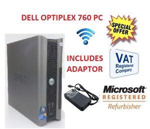 DELL OPTIPLEX 760  USFF  PC  CORE 2 DUO OR CORE 2 QUAD WINDOW 7 OR 10 WARRANTY