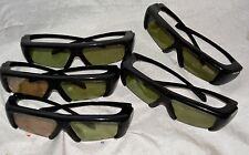 samsung 3100GB glasses LOT of  pairs black 3D active glasses 5 in this lot