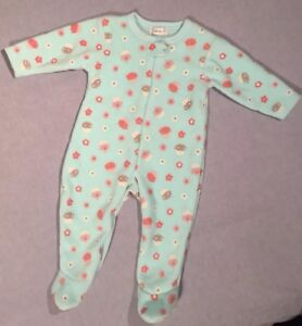 Primark-Early-Days-Baby-s-Sleepsuit-Pale-Blue-Pink-Glitter-Age-12-18-Mnths-BNWT