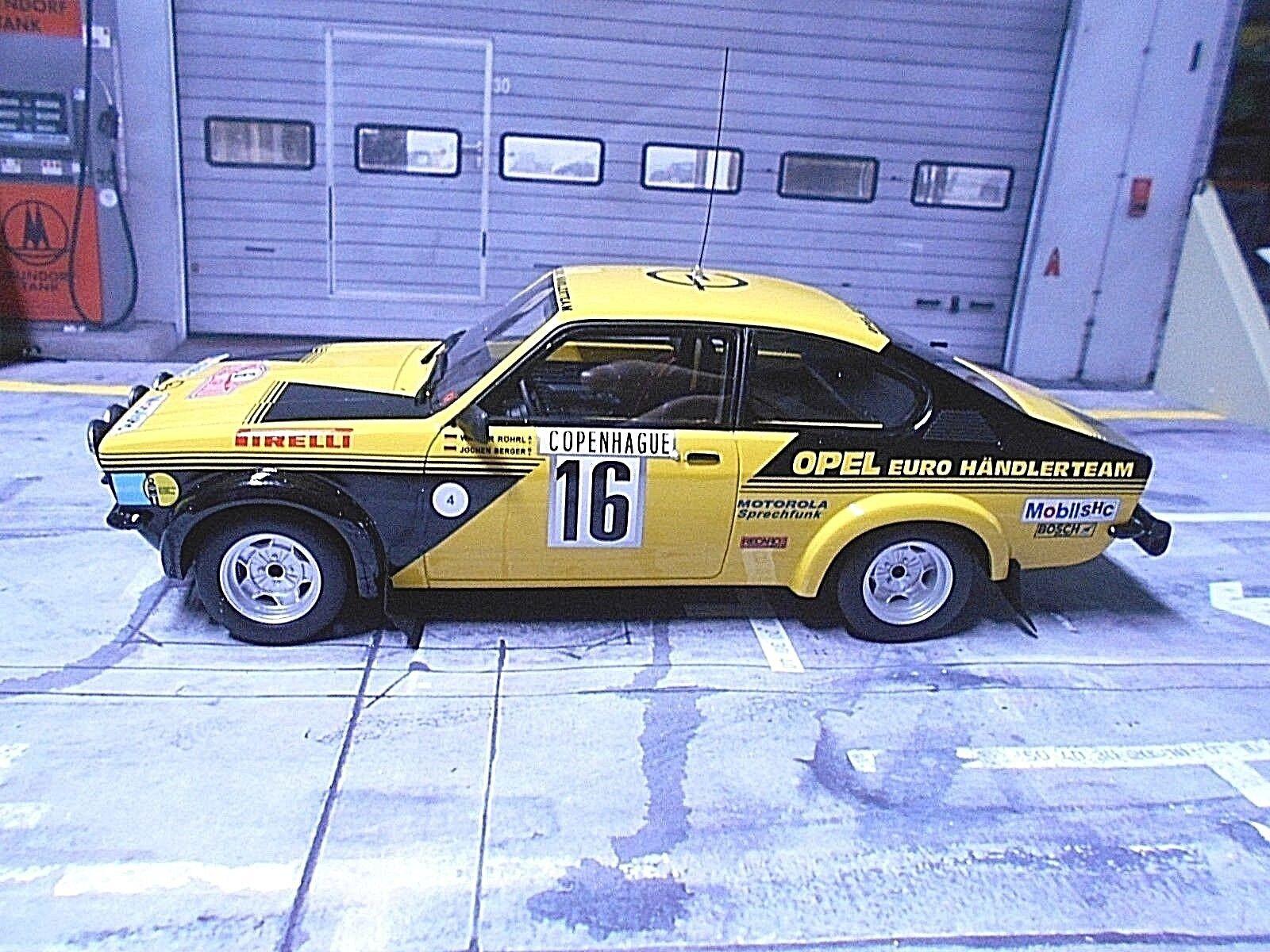 Opel C KADETT GT E RALLYE MONTE CARLO 1976  16 Röhrl EURO distributeur RAR Otto 1 18