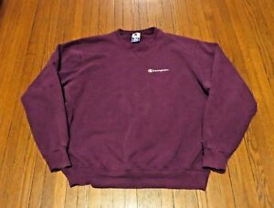 2304391b3aa25 Men s VTG 80 s 90 s Champion Script Logo Purple Sweatshirt sz XL ...