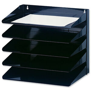 Metal Wall Mounted Letter Trays Filing Rack 194 169 427999 Ebay