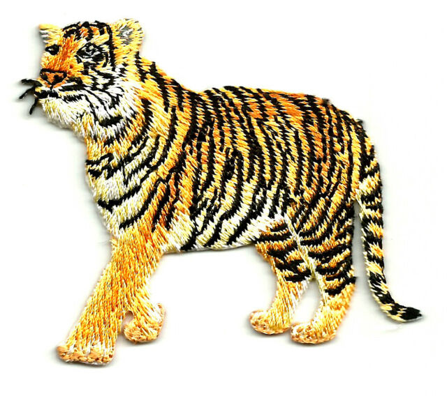Tiger - Wild Animal - Zoo Animal - Embroidered Iron On Applique Patch