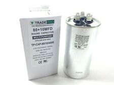 8010 Mfd 440 Volt Round Dual Run Capacitor Motor Compressor Hvac Tradepro 8010