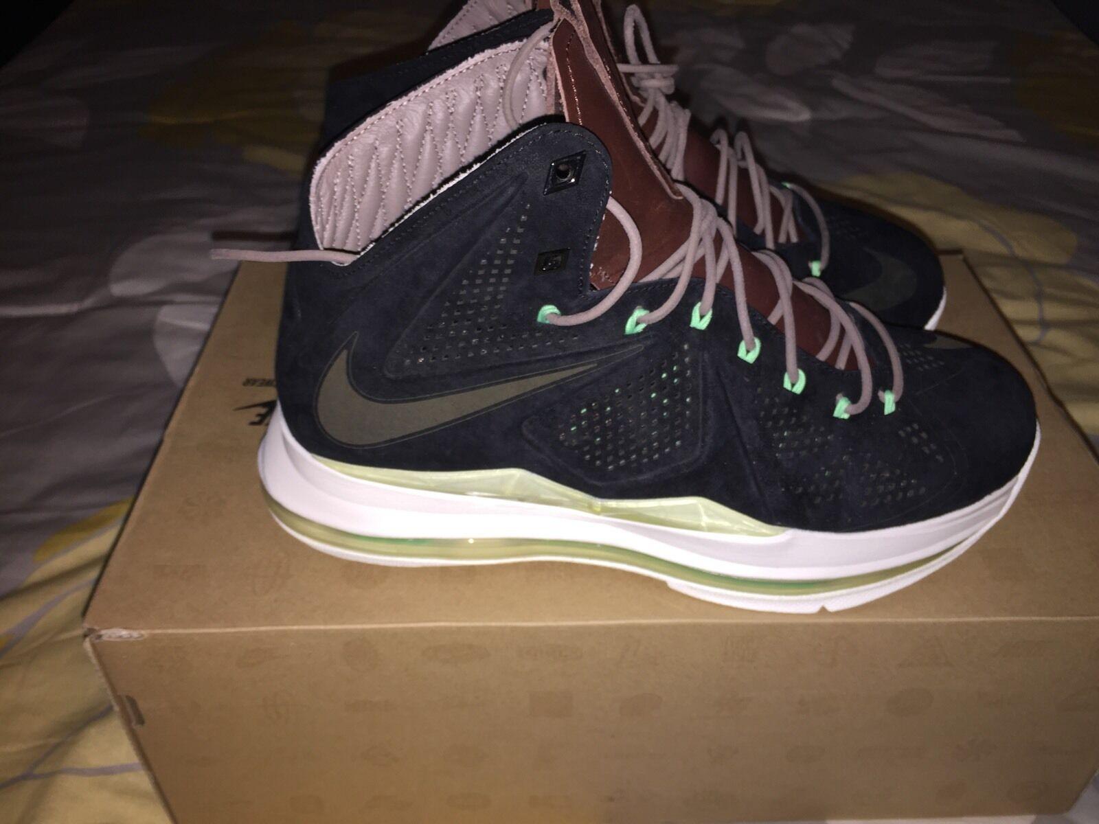 Nike lebron 10 x ext nero n mint limitate dimensioni 8