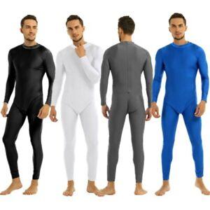 Men-039-s-Spandex-Full-Body-Suit-Leotard-Gymnastics-Dance-Unitards-Catsuit-Dancewear