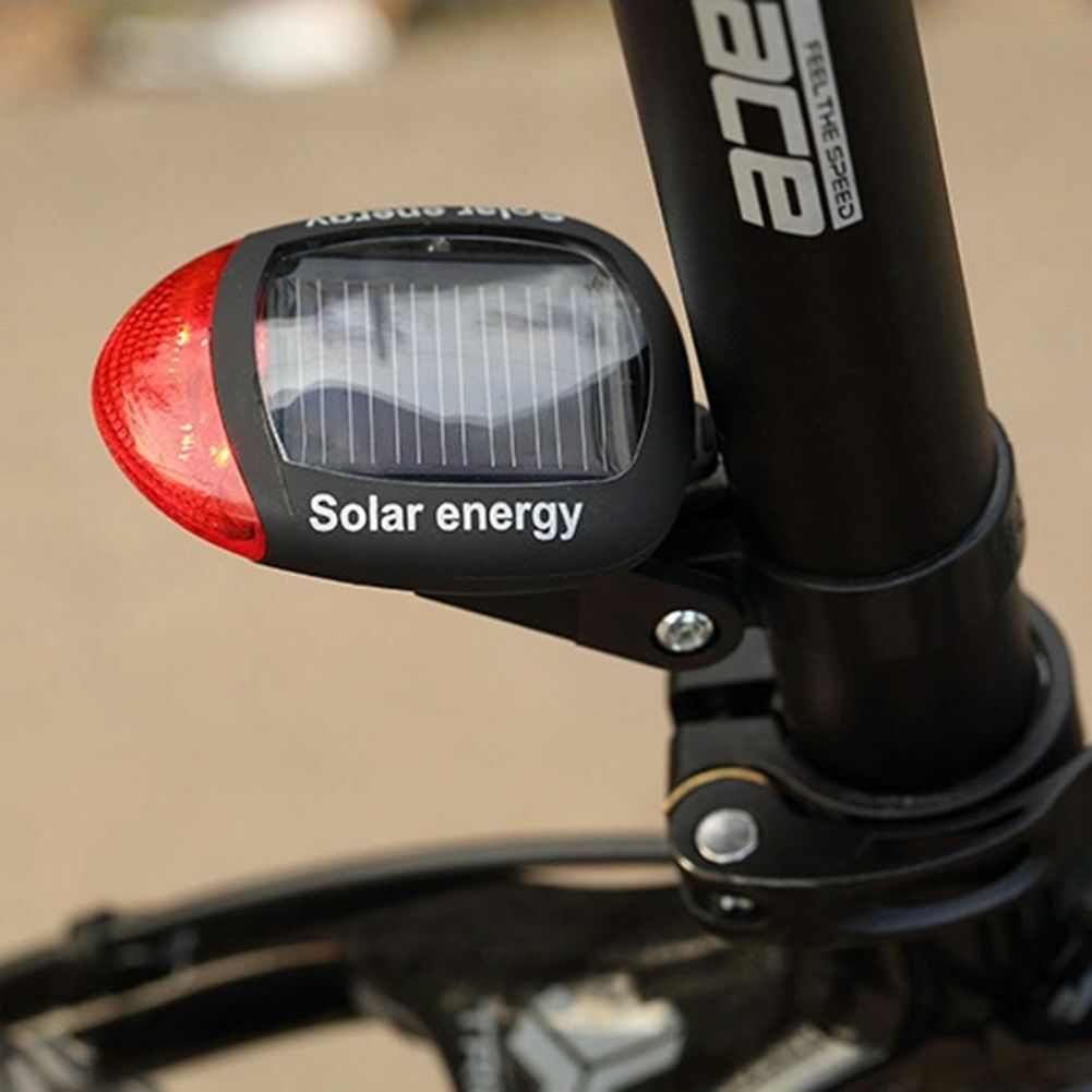 Bicycle Red 2 LED Super Bright Solar Power Energy  Bike Rear Lamp Tail Light  will make you satisfied