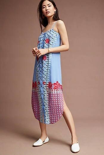 New Anthropologie Estina Embroiderot Dress by Lilka.Large