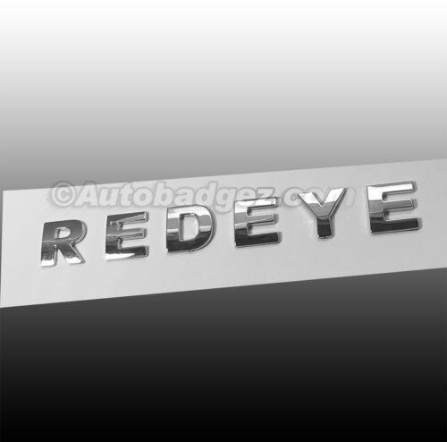 Brand New 3D adhesive REDEYE RED EYE chrome lettering emblem badge emblem BA 1