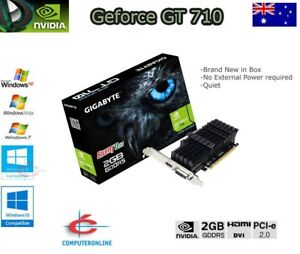 Details about NVIDIA GeForce GT710 2GB GDDR5 PCIe Video Graphics Card HDMI  DVI