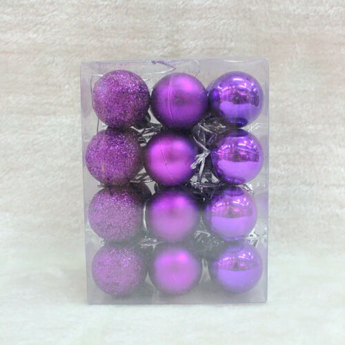 24 Piece Christmas Tree Baubles Box Christmas Balls Baubles Tree Decorations 30mm
