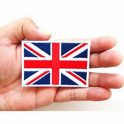 UK Flag Embroidered Iron/Sew On  Patch United Kingdom Badge Transfer 7x4.5cm UJ
