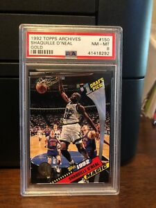 1992-93-Topps-Archives-Gold-Shaquille-O-039-Neal-Rookie-Card-150-PSA-8-NM-MT