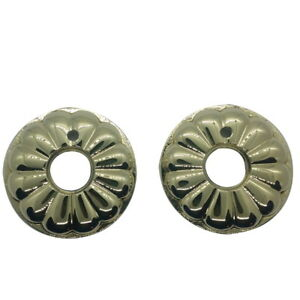 Baldwin 5148 Pair of Estate Rosettes for Privacy Functions Lifetime Polished Brass