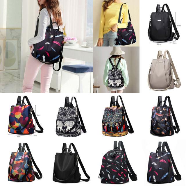 8a312922b228 Women's Oxford Cloth Backpack Anti-Theft Rucksack Handbag School Shoulder  Bag