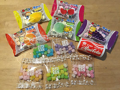 Kompeito, Konpeito and abekko Ramune Assort Set, Japanese sugar candy 11 pc set,