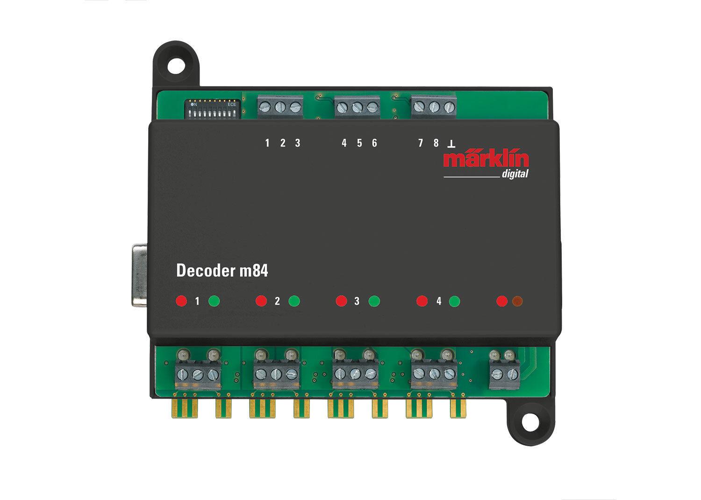 Märklin 60842 Decoder M84 Supports digital formats MFX, DCC, & Märklin Motgoldla