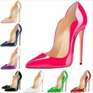 Women-039-s-Stilettos-Patent-Leather-Pumps-High-Heels-Pointed-Toe-Summer-Party-Shoes