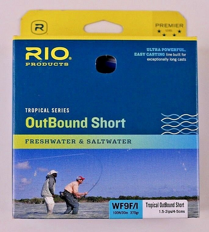 Rio OutBound Short WF9F I Fly Line bluee Ivory Free Fast Shipping 6-21836