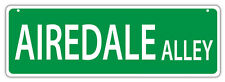 Plastic Street Signs: AIREDALE ALLEY (AIREDALE TERRIER) | Dogs, Gifts