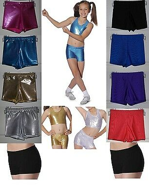 Roch Valley Micro Shorts Hot Pants Shiny Metallic Nylon Lycra Dance Gymnastics Acro