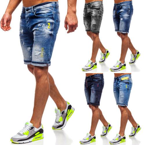 Jeanshose Shorts Jeans Bermudas Kurzhose Kurze Hosen Herren Mix BOLF Denim WOW