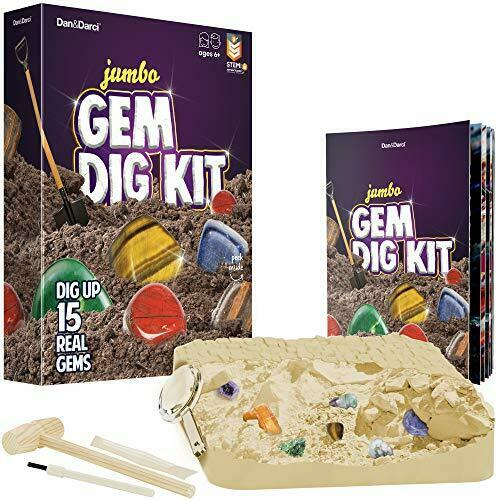 Dan /& Darci Mega Gem Dig Kit Dig up 15 Real GemstonesGreat Science,