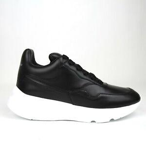 Details about $590 Alexander McQueen Men's Black Leather Platform Sneakers  505033 1000