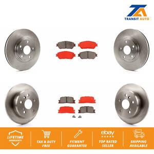 Front Rear Disc Rotors /& Semi-Metallic Brake Pads Fits Lexus ES300