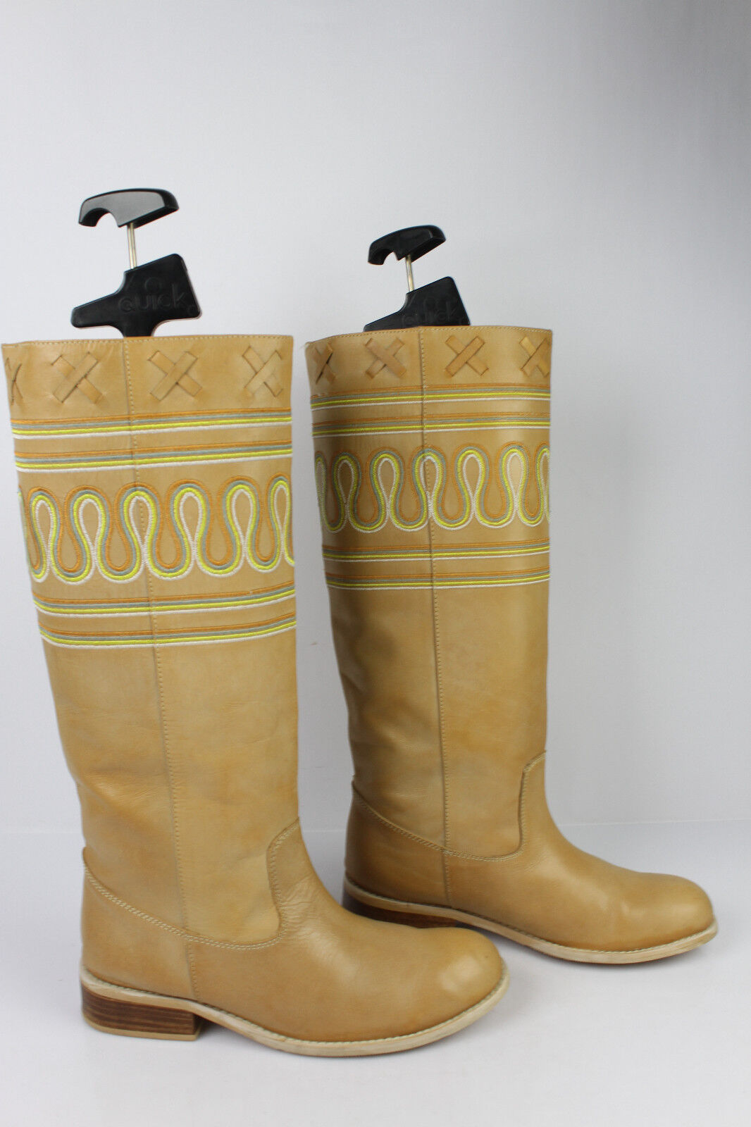 Bottes FRIIS & COMPANY Cuir Biscuit T 38 TBE