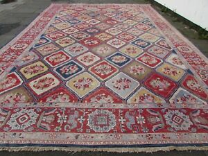 Old-Traditional-Hand-Made-Afghan-Oriental-Red-Wool-Large-Somak-Kilim-557x377cm