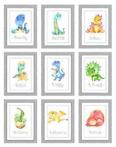 Set of 2 Dinosaur Boys Girls Playroom Nursery Poster Print Picture A4 PR202