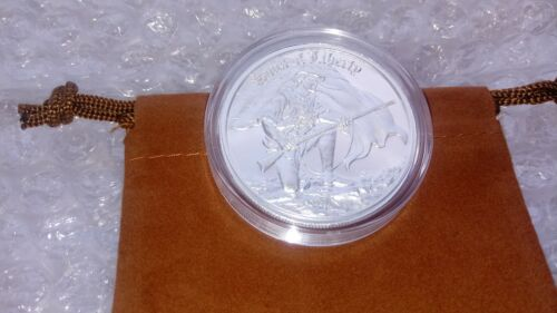 2 Troy Oz Fine Silver .999 Sons of Liberty Round with Capsule and Coin Pouch
