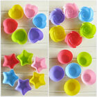12pcs/Lot Colorful Silicone Cake Mold cupcake candy Tools Baking DIY Mould Tools