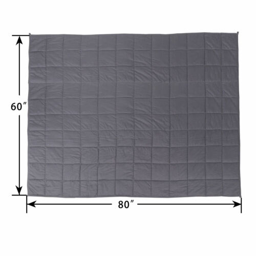 Cotton Breathable 60x80 Strong Loops 20lbs Weighted Blanket Promote Deep Sleep