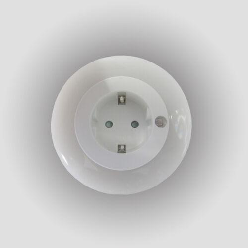 REV LED-Nachtlicht rund Steckdose Lampe Nachtleuchte Nachtlampe Steckdosenlicht
