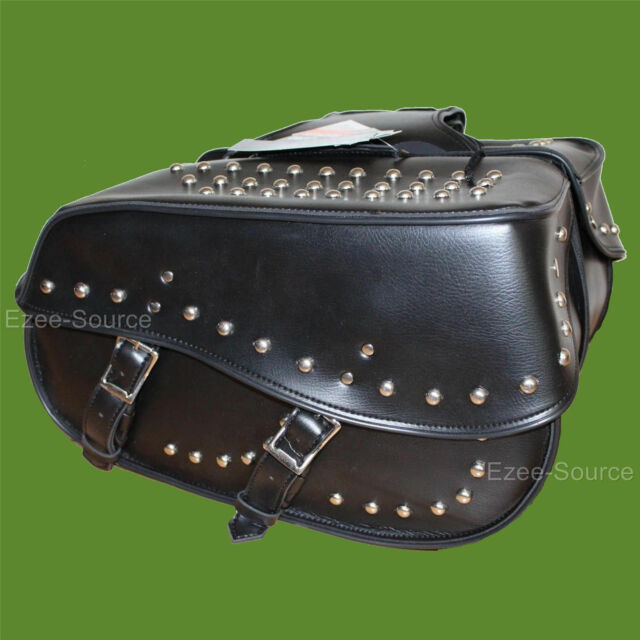 "18"" W x 11"" H WATERPROOF STUDDED SADDLEBAGS w/ ZIP-OFF FOR YAMAHA - YV7J"
