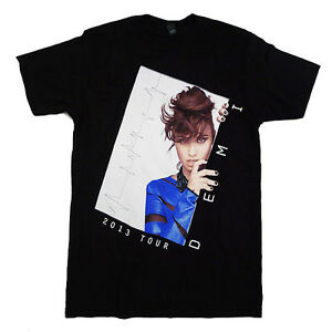 Demi Lovato Brand New Rare Black VIP T-Shirt Merch Demi 2013 Tour Official