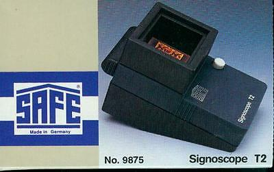 SAFE Signoscope T 2 Optic-Electric Watermark Finder New