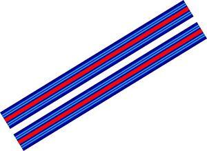2-x-Le-Mans-Martini-style-Stripe-156-cm-long-25-cm-wide-Sticker-decal-A648a