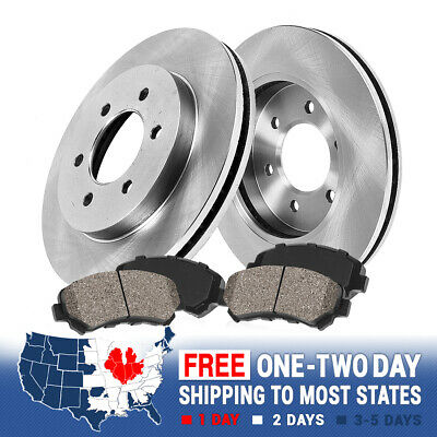 Fit 2010-2016 Cadillac SRX Front Sport Drill Slot Brake Rotors+Ceramic Brake Pad