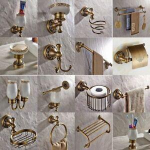 Image Is Loading Antique Br Carved Bathroom Accessories Set Bath Hardware